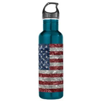USA Flag - Crinkled 24oz Water Bottle