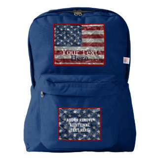 USA Flag - Crinkled American Apparel™ Backpack