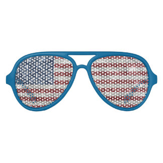USA Flag - Crinkled Aviator Sunglasses