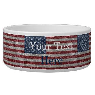 USA Flag - Crinkled Bowl