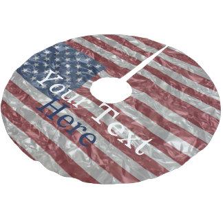 USA Flag - Crinkled Brushed Polyester Tree Skirt