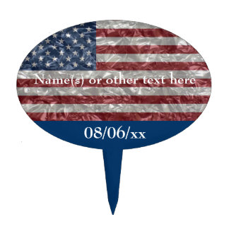 USA Flag - Crinkled Cake Topper