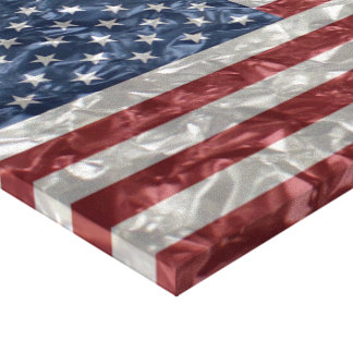 USA Flag - Crinkled Canvas Print