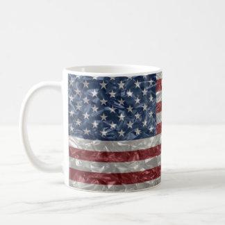 USA Flag - Crinkled Classic White Coffee Mug