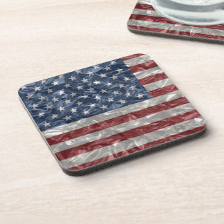USA Flag - Crinkled Drink Coaster