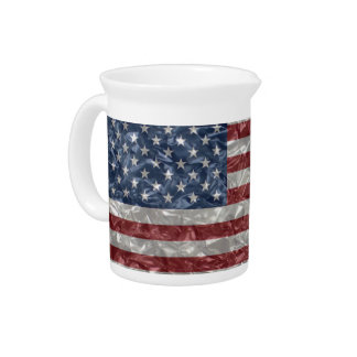 USA Flag - Crinkled Drink Pitcher