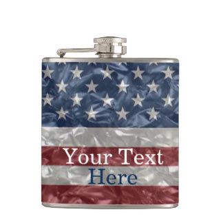 USA Flag - Crinkled Flask