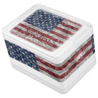 USA Flag - Crinkled Igloo Drink Cooler