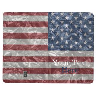 USA Flag - Crinkled Journal