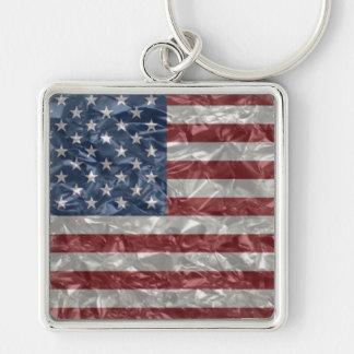 USA Flag - Crinkled Keychain