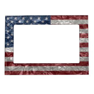 USA Flag - Crinkled Magnetic Frame