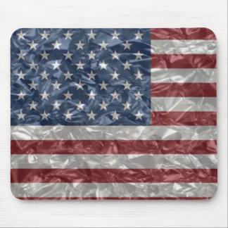 USA Flag - Crinkled Mouse Pad