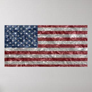 USA Flag - Crinkled Poster