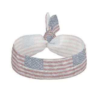 USA Flag - Crinkled Ribbon Hair Tie