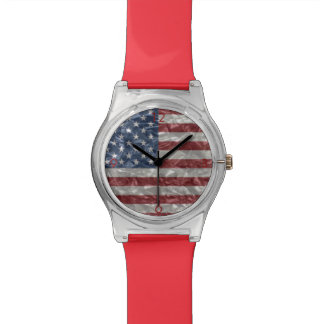 USA Flag - Crinkled Wrist Watch