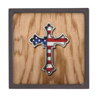 USA Flag Cross Gift Box