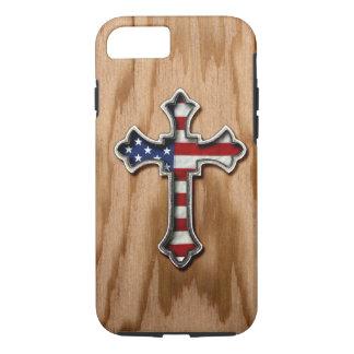 USA Flag Cross iPhone 7 Case