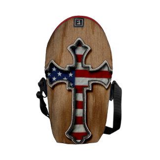 USA Flag Cross Messenger Bag