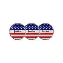 USA Flag Customizable Golf Ball Marker