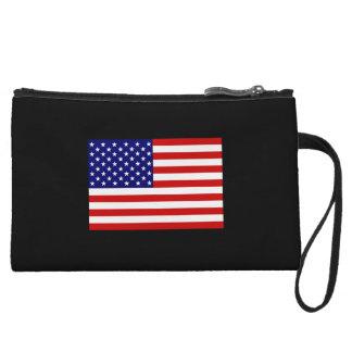usa flag cute bag great to keep stuff in wristlet purse