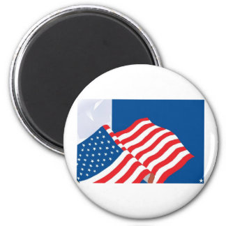 USA FLAG DESIGN 2 INCH ROUND MAGNET