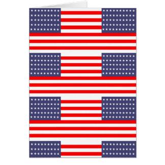 usa flag design card