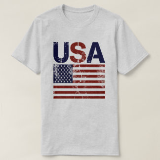 USA Flag Distressed T-Shirt