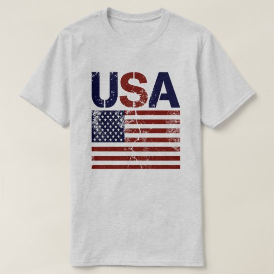 USA Flag Distressed T-Shirt