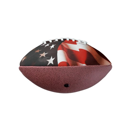 USA flag draped Football