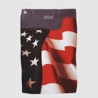 USA flag draped Golf Towel