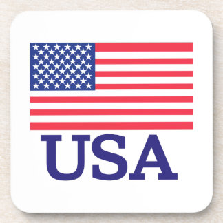 USA Flag Drink Coaster
