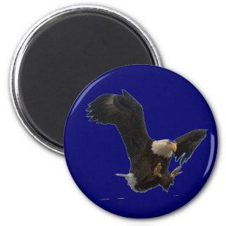 USA FLAG EAGLE 2 INCH ROUND MAGNET