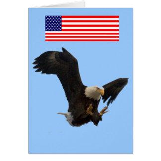 USA FLAG EAGLE CARD