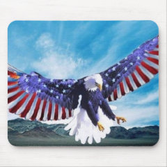 USA-Flag Eagle Mouse Pad