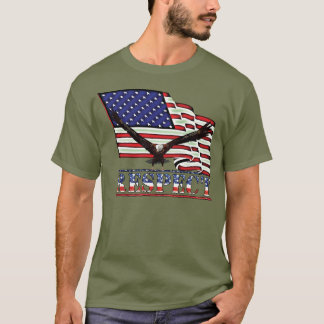 USA Flag & Eagle over RESPECT T-Shirt
