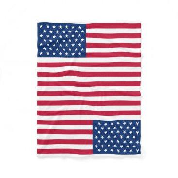 USA Themed Usa Flag Fleece Blanket