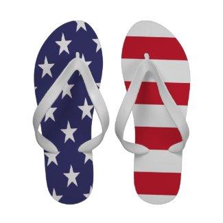 USA Flag Flip-Flops