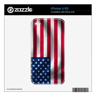 USA Flag for iPhone 4 4S Skins For iPhone 4