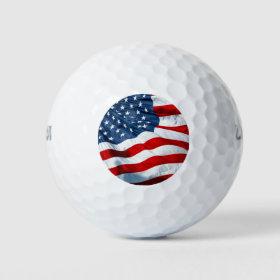 usa flag golf balls