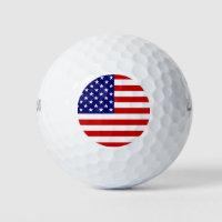 USA Flag Golf Balls arc