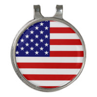 USA Flag Golf Hat Clip and Ball Marker