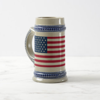 Usa Flag Gray /Blue 22 oz Stein