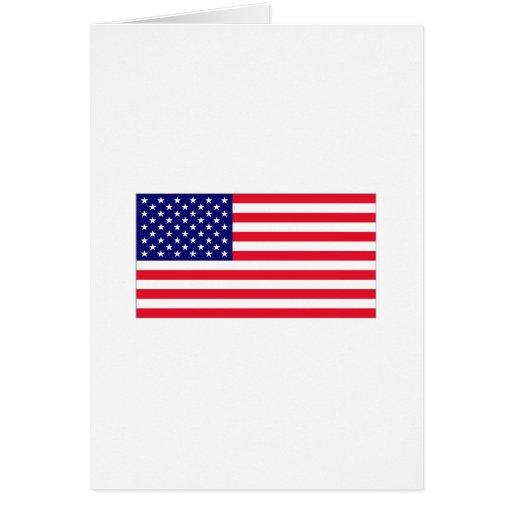 Usa flag greeting card zazzle