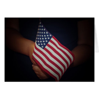 USA Flag Greeting Card with white envelope