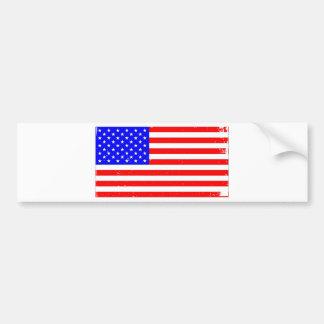 USA Flag Grunge Bumper Sticker