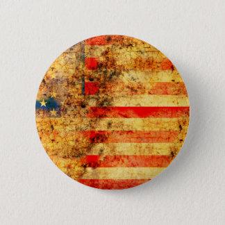 USA Flag Grunge Button
