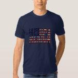 USA Flag Grunge Letters MERICA american pride Tee Shirt