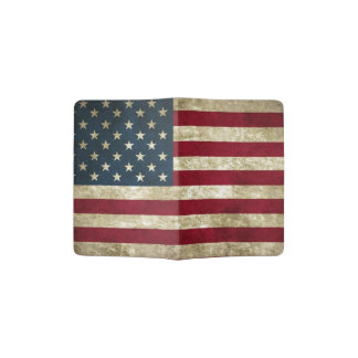 USA Flag Grunge Passport Holder