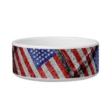 USA Themed Usa Flag Grunge Pattern Bowl