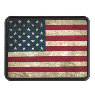 USA Flag Grunge Trailer Hitch Cover